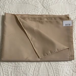 Beige Square Table Cloth